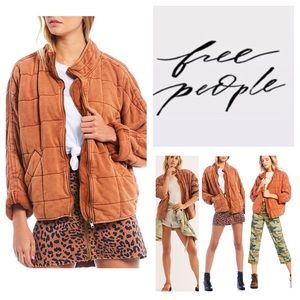 Free People Dolman Quilted Knit Jacket.  NWT.